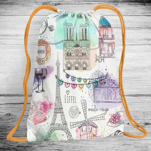 "Рюкзак-мешок ""Paris"" (арт. 2) — фото, картинка"