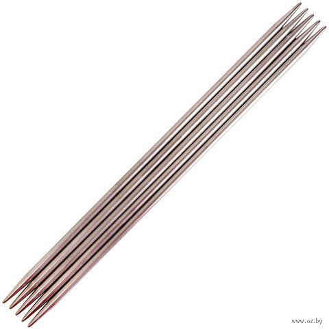 Спицы чулочные для вязания (металл; 4 мм; 20 см) — фото, картинка