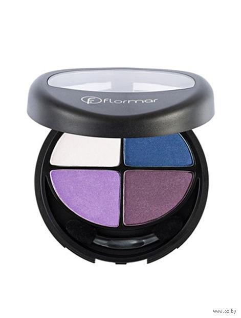 """Палетка теней для век """"Quartet Eye Shadow"""" (тон: 411, purple look) — фото, картинка"""
