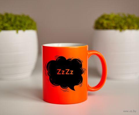 """Кружка """"Сладких снов"""" (оранжевая) — фото, картинка"""