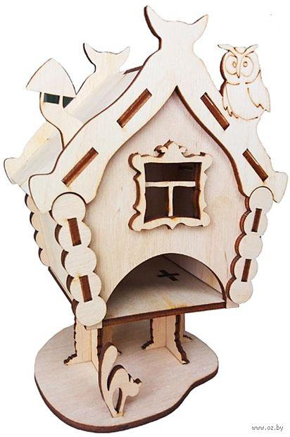"""Заготовка деревянная """"Чайный домик. Избушка"""" (100х100х190 мм) — фото, картинка"""