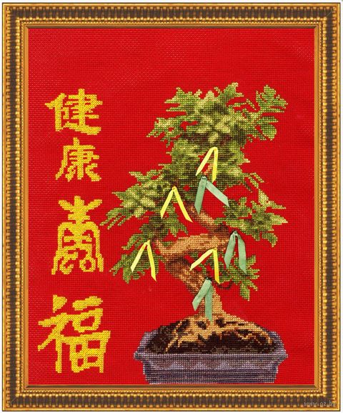 "Вышивка крестом ""Дерево здоровья"" (270х225 мм) — фото, картинка"