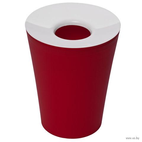 """Ведро для мусора с крышкой """"Hole"""" (красное)"""