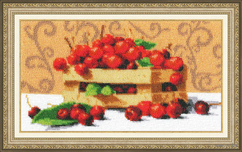 "Вышивка бисером ""Спелые вишни"" (168х300 мм) — фото, картинка"