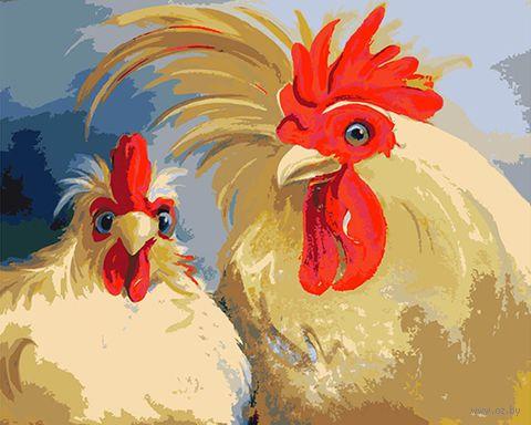 """Картина по номерам """"Кочет и курица"""" (165х130 мм) — фото, картинка"""