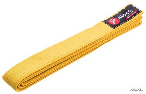 Пояс для единоборств (260 см; жёлтый) — фото, картинка