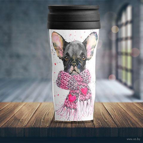 """Термостакан """"Собака в шарфе"""" — фото, картинка"""