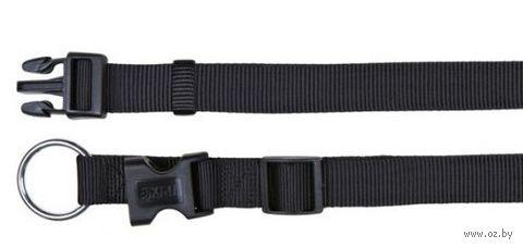 """Ошейник нейлоновый для собак """"Classic"""" (размер S-M; 30-45 см; черный)"""