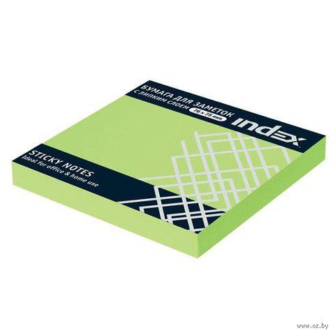 Стикеры (76х75 мм; 100 листов; зеленый неоновый) — фото, картинка