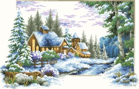 """Алмазная вышивка-мозаика """"Зимний пейзаж"""""""