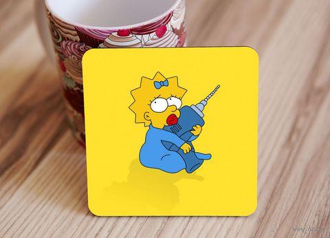 "Подставка под кружку ""Симпсоны"" (арт. 3) — фото, картинка"