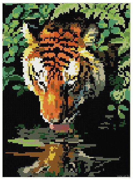 """Алмазная вышивка-мозаика """"У водопоя"""" (300x400 мм) — фото, картинка"""