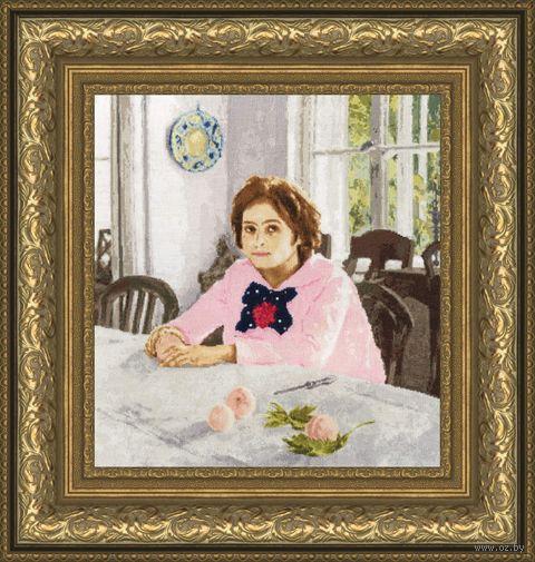 """Вышивка крестом """"Девочка с персиками"""" (415х385 мм) — фото, картинка"""