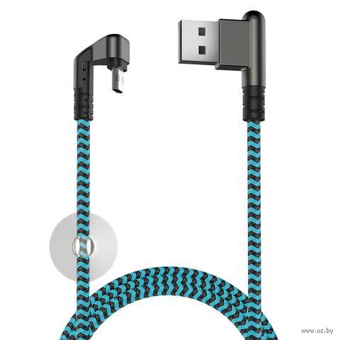Кабель Olmio X-Game Neo (черно-голубой) — фото, картинка