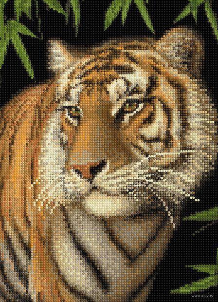 "Алмазная вышивка-мозаика ""Тигрица"" (360х260 мм) — фото, картинка"