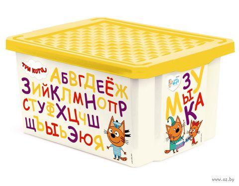 "Ящик для хранения игрушек ""Три кота. Обучайка"" (арт. LA1225) — фото, картинка"