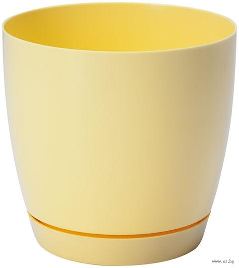 """Цветочный горшок """"Тоскана"""" (11 см; желтая пастель) — фото, картинка"""