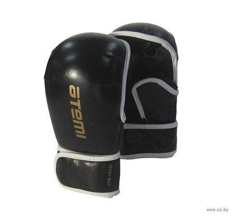 Перчатки для MMA LTB19107 (L; кожа; чёрные) — фото, картинка