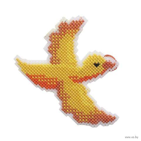 "Вышивка крестом ""Птица счастья"" (135х90 мм) — фото, картинка"