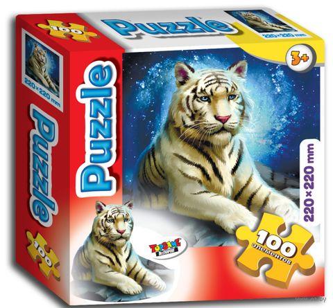 "Пазл ""Белый тигр"" (100 элементов) — фото, картинка"