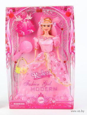 """Кукла """"Koler. Fashion Girl"""" (в розовом платье)"""