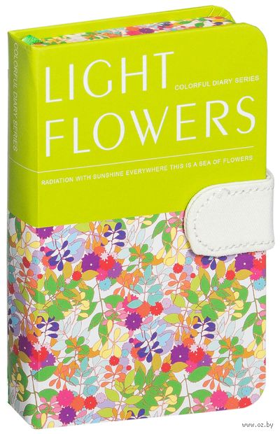 """Записная книжка в клетку """"Light Flowers"""" (А6) — фото, картинка"""