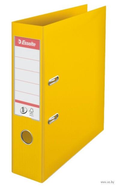 Папка-регистратор А4 с арочным механизмом, 75 мм (ПВХ, желтая)