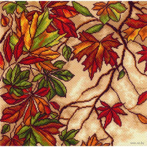 """Канва с нанесенным рисунком """"Осенний вальс"""""""