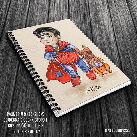 """Блокнот в клетку """"Супермен"""" (A5; арт. 1235) — фото, картинка"""