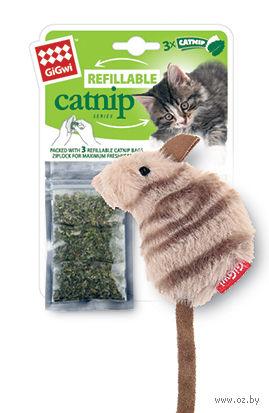 """Игрушка для кошек с кошачьей мятой """"Мышка"""" (10 см; 3 пакетика) — фото, картинка"""