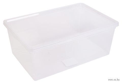 Ящик для хранения с крышкой (37x25x14 см) — фото, картинка