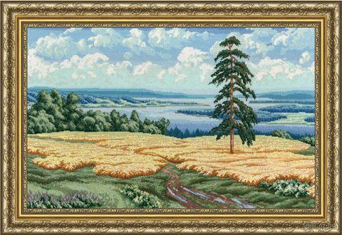 "Вышивка крестом ""Волжские дали"" (315х495 мм) — фото, картинка"