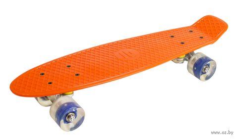 Миниборд с подсветкой колёс (оранжевый; арт. APB-3.15) — фото, картинка
