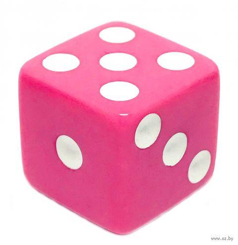 """Кубик D6 """"Простой"""" (16 мм; розово-белый) — фото, картинка"""