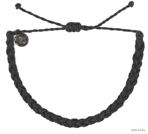 Браслет плетённый (чёрный) — фото, картинка
