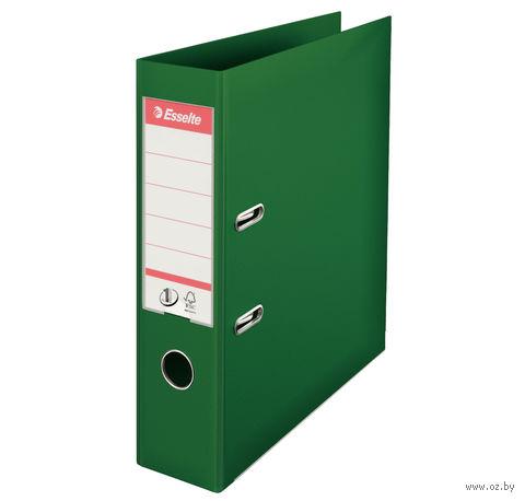Папка-регистратор А4 с арочным механизмом, 75 мм (ПВХ, зеленая)