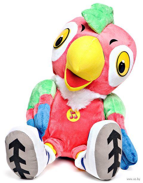 """Мягкая музыкальная игрушка """"Попугай Кеша в кроссовках"""" (25 см) — фото, картинка"""