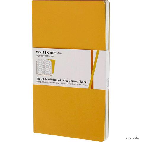 """Записная книжка Молескин """"Volant"""" в линейку (большая; мягкая желтая обложка; 2 штуки)"""