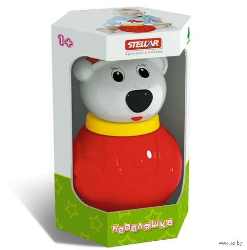 "Неваляшка малая ""Белый Медведь-2"" (коробка)"