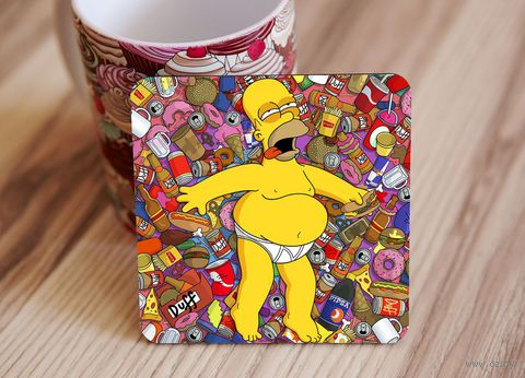 "Подставка под кружку ""Симпсоны"" (art. 7)"