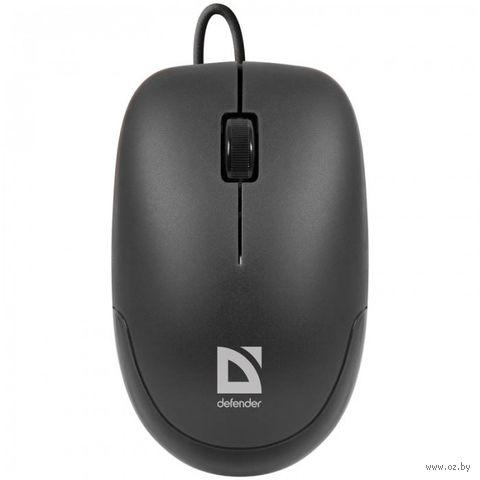 Проводная оптическая USB мышь Defender Datum MM-010 (черная) — фото, картинка