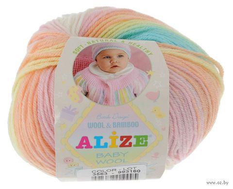 """Пряжа """"ALIZE. Baby Wool Batik Design №3563"""" (50 г; 175 м; секционный) — фото, картинка"""