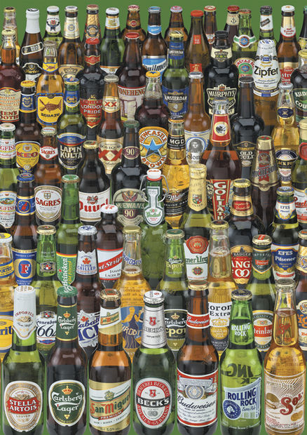 """Пазл """"Коллекция бутылок пива"""" (1000 элементов)"""