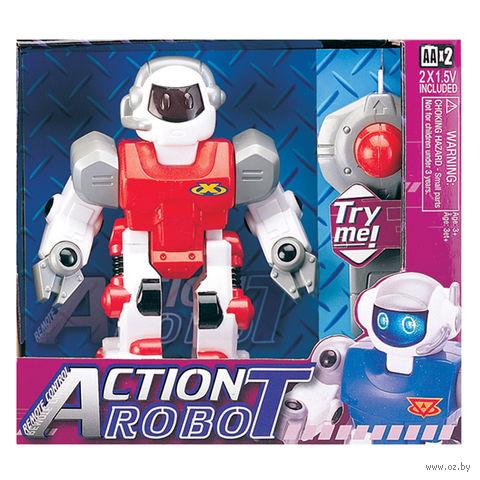 """Робот на радиоуправлении """"Робот красный"""" (со звуковыми и световыми эффектами)"""