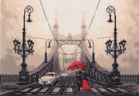 """Канва с нанесенным рисунком """"Туманный вечер в Будапеште"""""""
