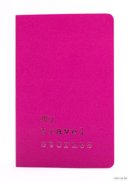"""Записная книжка Молескин """"Volant. My Travel Stories"""" нелинованная (карманная; мягкая темно-розовая обложка)"""