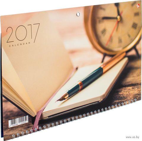 """Календарь квартальный на 2017 год """"Офисный стиль. Заметки"""""""