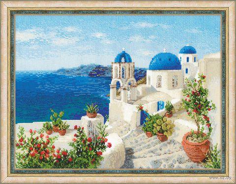 "Вышивка крестом ""Санторини"" (400x300 мм) — фото, картинка"