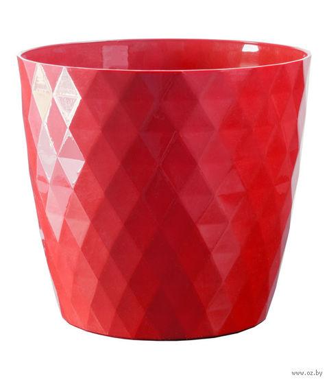 """Цветочный горшок """"Кристалл"""" (18 см; красный) — фото, картинка"""