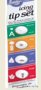 Набор насадок пластиковых для кондитерского мешка (4 шт.)